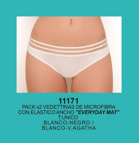 Art 11171 Pack x 2 Vedetinas microfibra Talle Unico Colores Surtidos